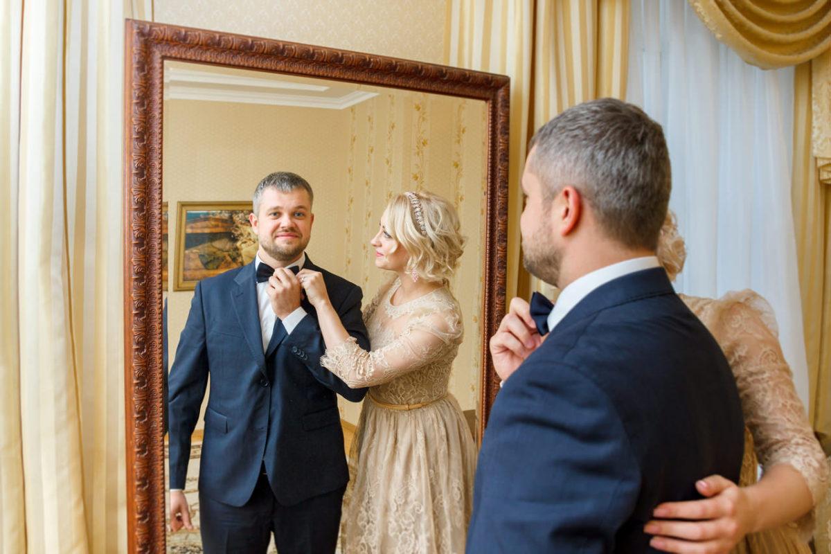 фото у зеркала