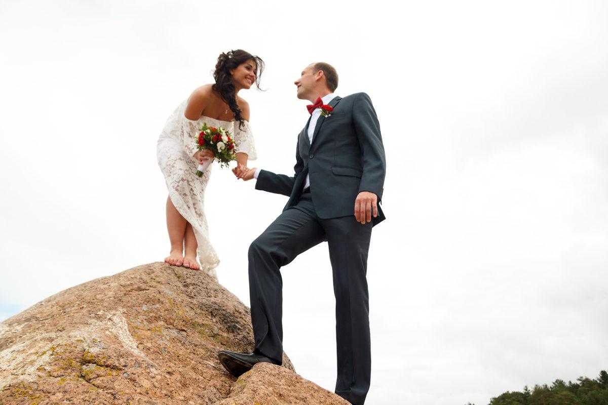 необычная свадебная фотография