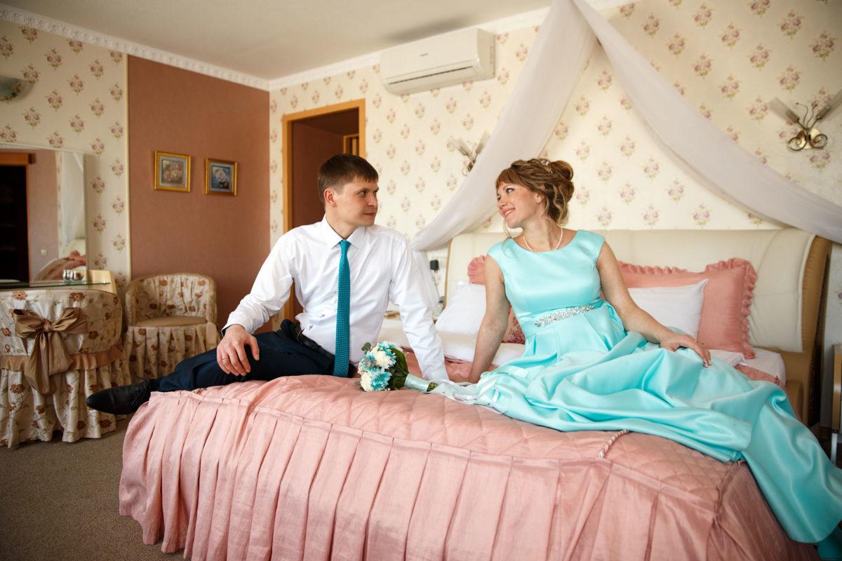 Свадебная съемка в гостинице