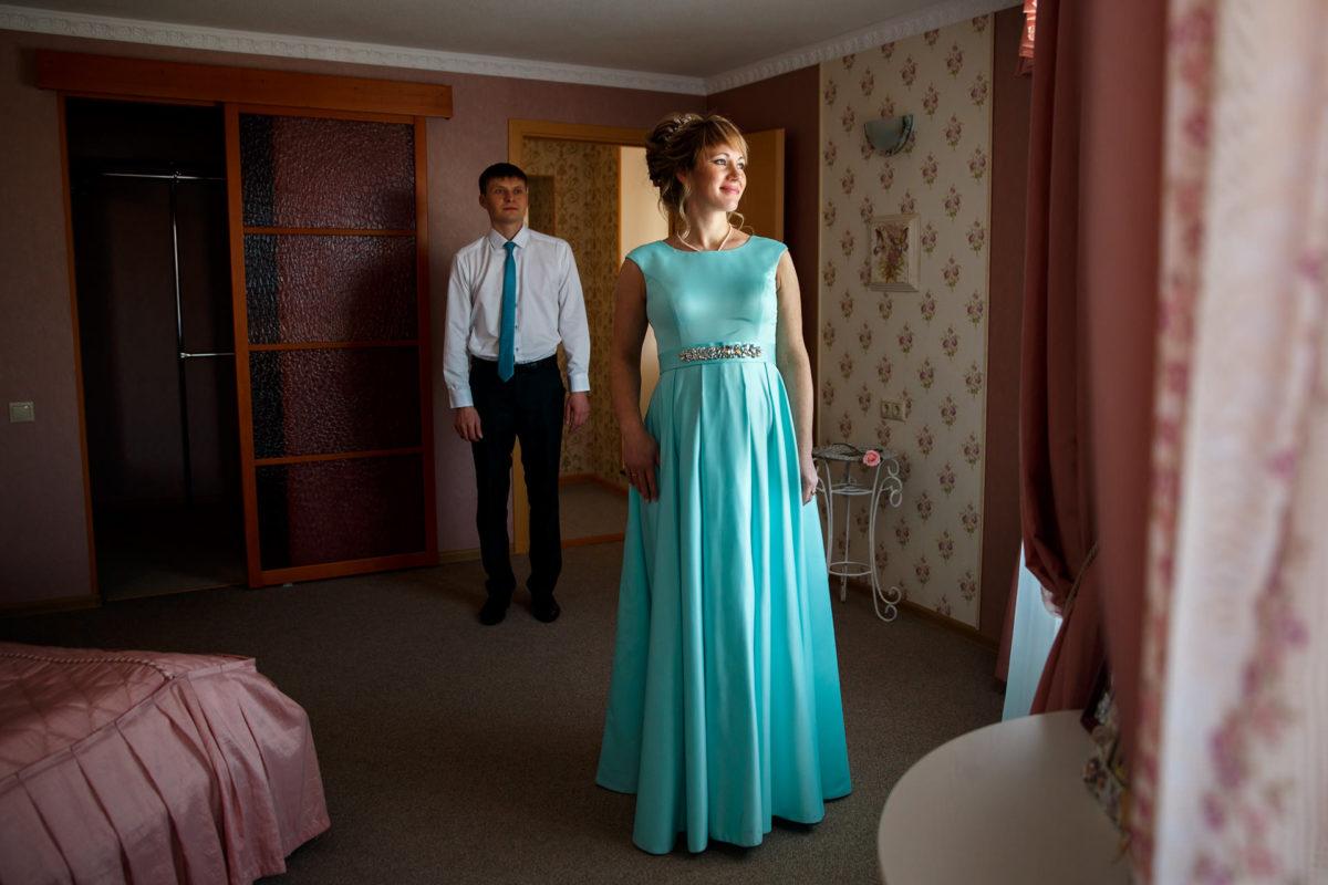 Позирование для свадебной съемки