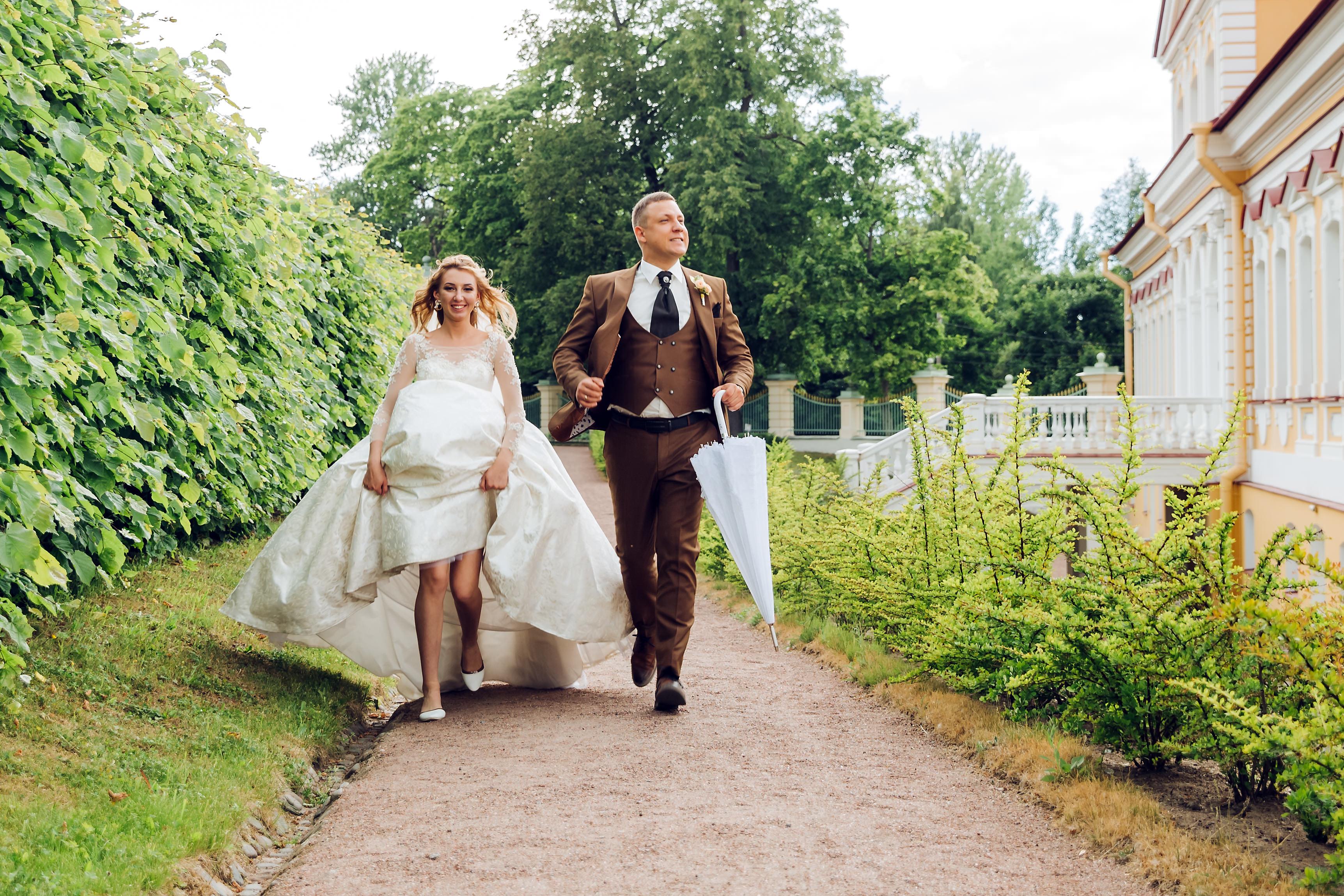 Свадебная прогулка в парке Ломоносова