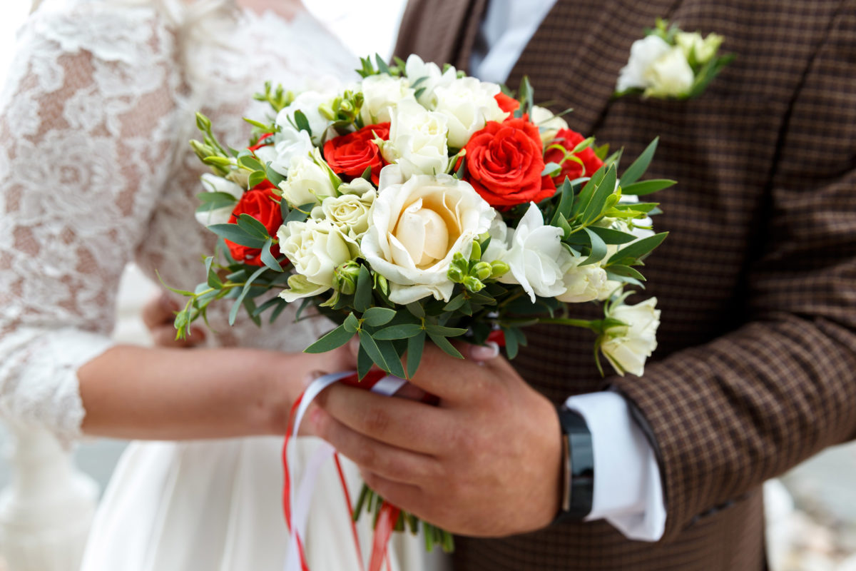 Свадебный букет в Петергофе