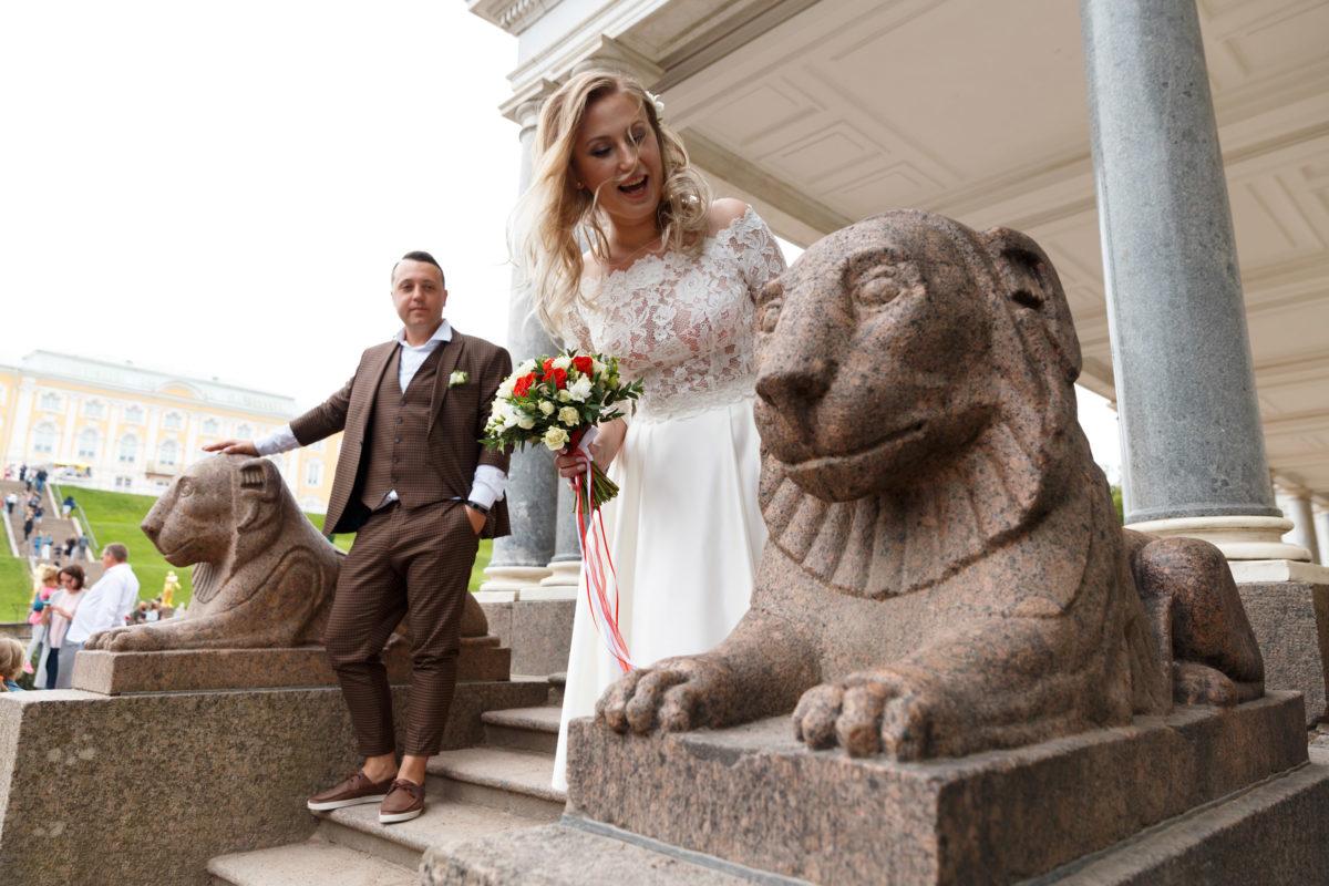 Свадебная прогулка Петергоф